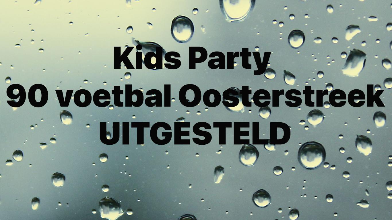 Kids Party uitgesteld
