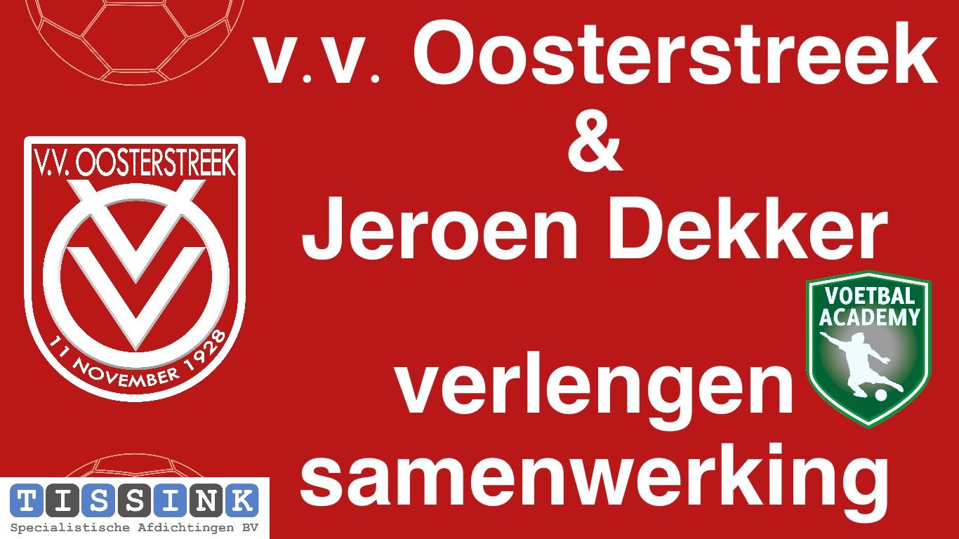 Oosterstreek & Jeroen Dekker verlengen samenwerking
