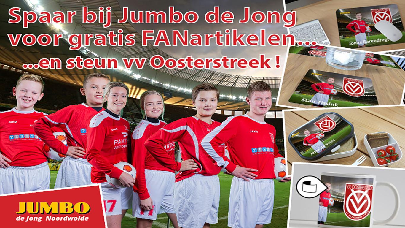 Kick-off  VV Oosterstreek en Jumbo de Jong Clubfund actie!