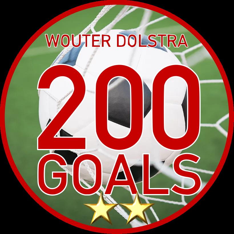 Wouter Dolstra slecht 200 goals grens