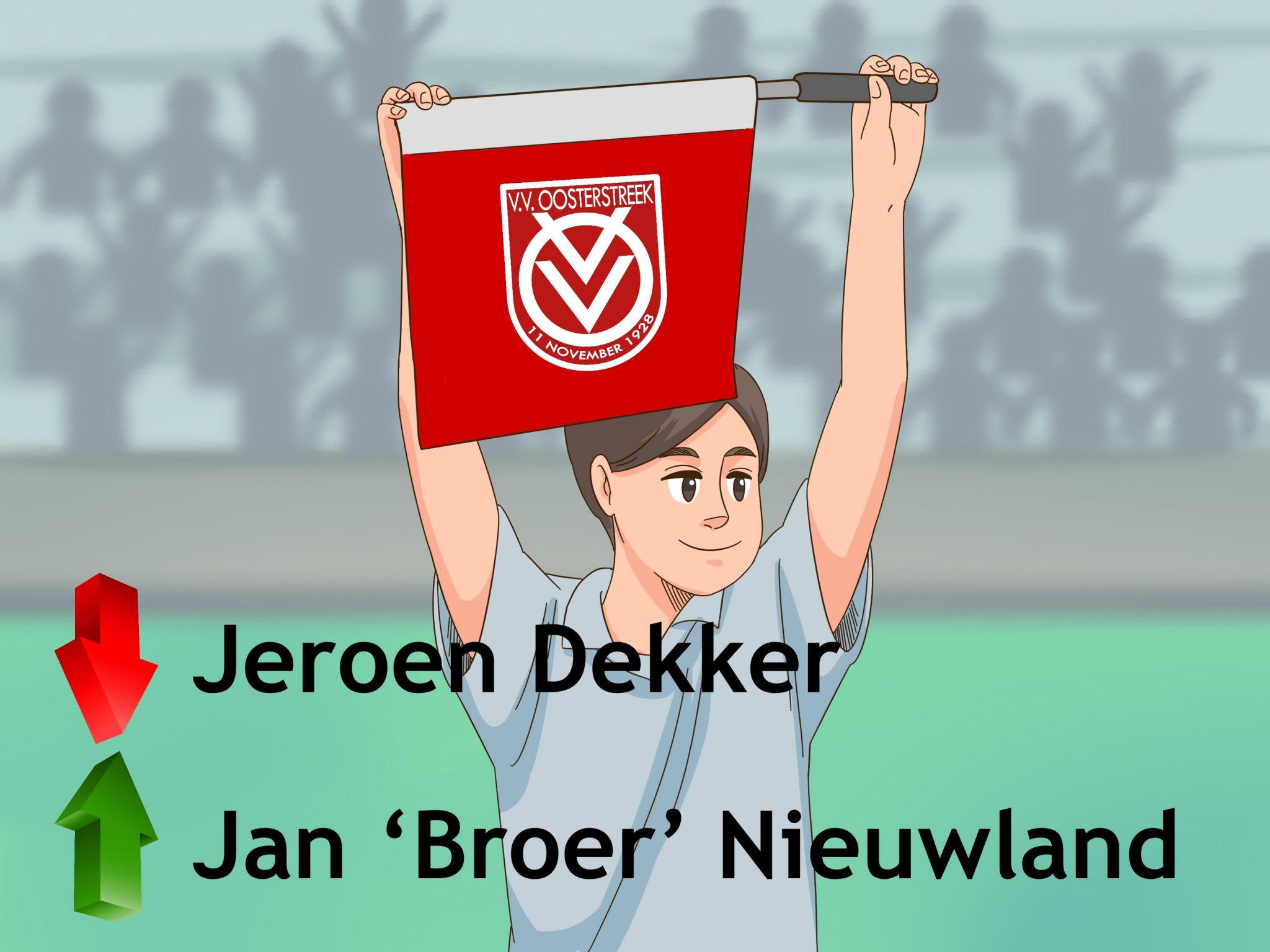 Wissel Oosterstreek: coach Nieuwland vervangt Dekker